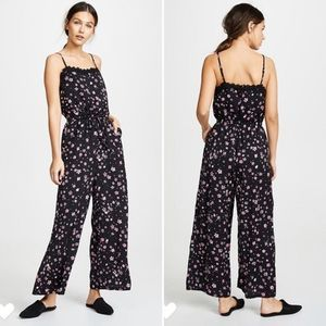 CUPCAKES AND CASHMERE vickie floral jumpsuit L